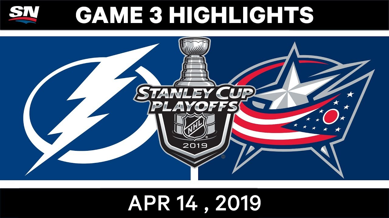 NHL Highlights | Lightning vs Blue Jackets, Game 3 – April 14, 2019