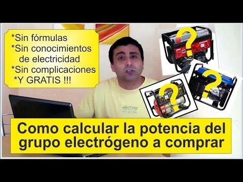 Grupos electrógenos  Cálculo de potencia ..   Calculate power for generators
