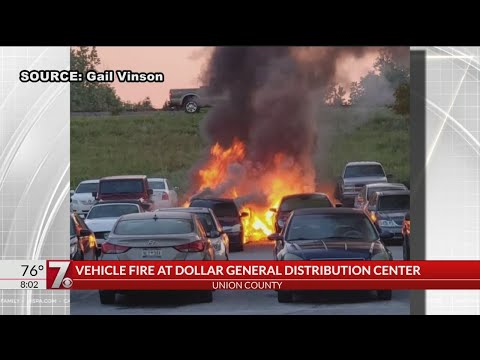 Vehicles Catch Fire At Dollar General Warehouse