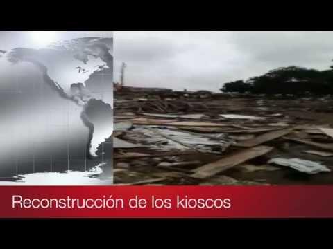 Desalojo y destrucción de los kioscos del slum de Madina en Accra (Ghana)