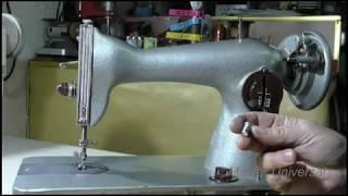 Швейная машина путает нитку на низ, зажёвывает и клинит. Видео № 515.