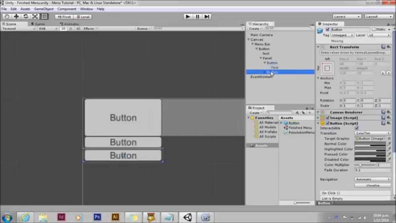 Unity UI dynamic drop down menu