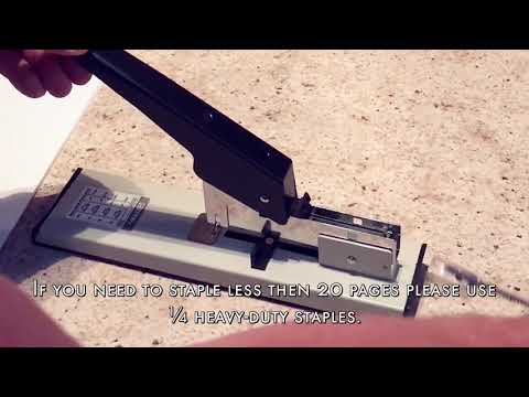 How To Use Effiliv  - Heavy Duty Stapler With Staples Set 90 Sheet Capacity