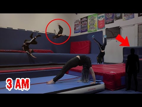 DON'T DO GYMNASTICS AT 3AM!! (SCARY)