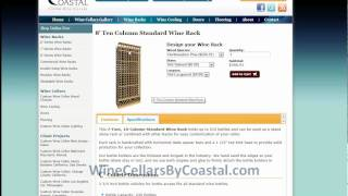 10 Column & Display Wood Wine Racks