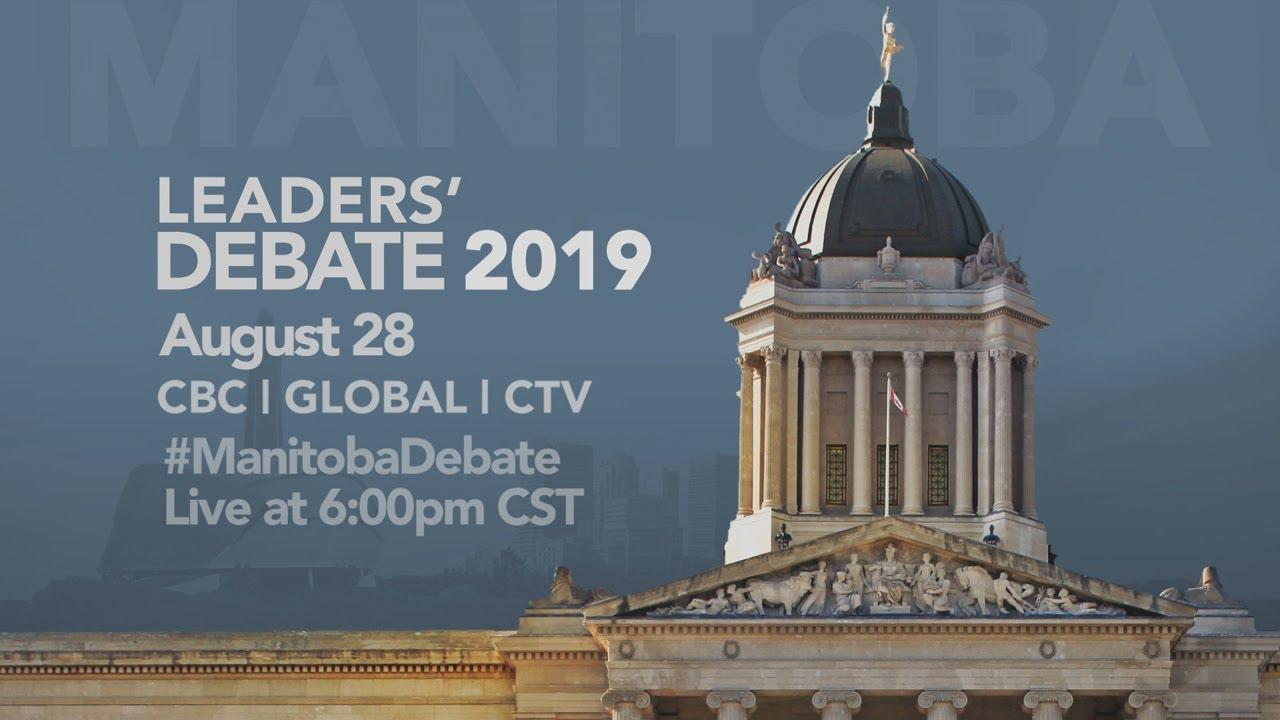 Manitoba leaders debate 2019 - National Ealliantie