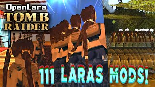 🎮 Play as 111 Laras at the same time! Tomb Raider/ OpenLara (XProger) Funny MODS