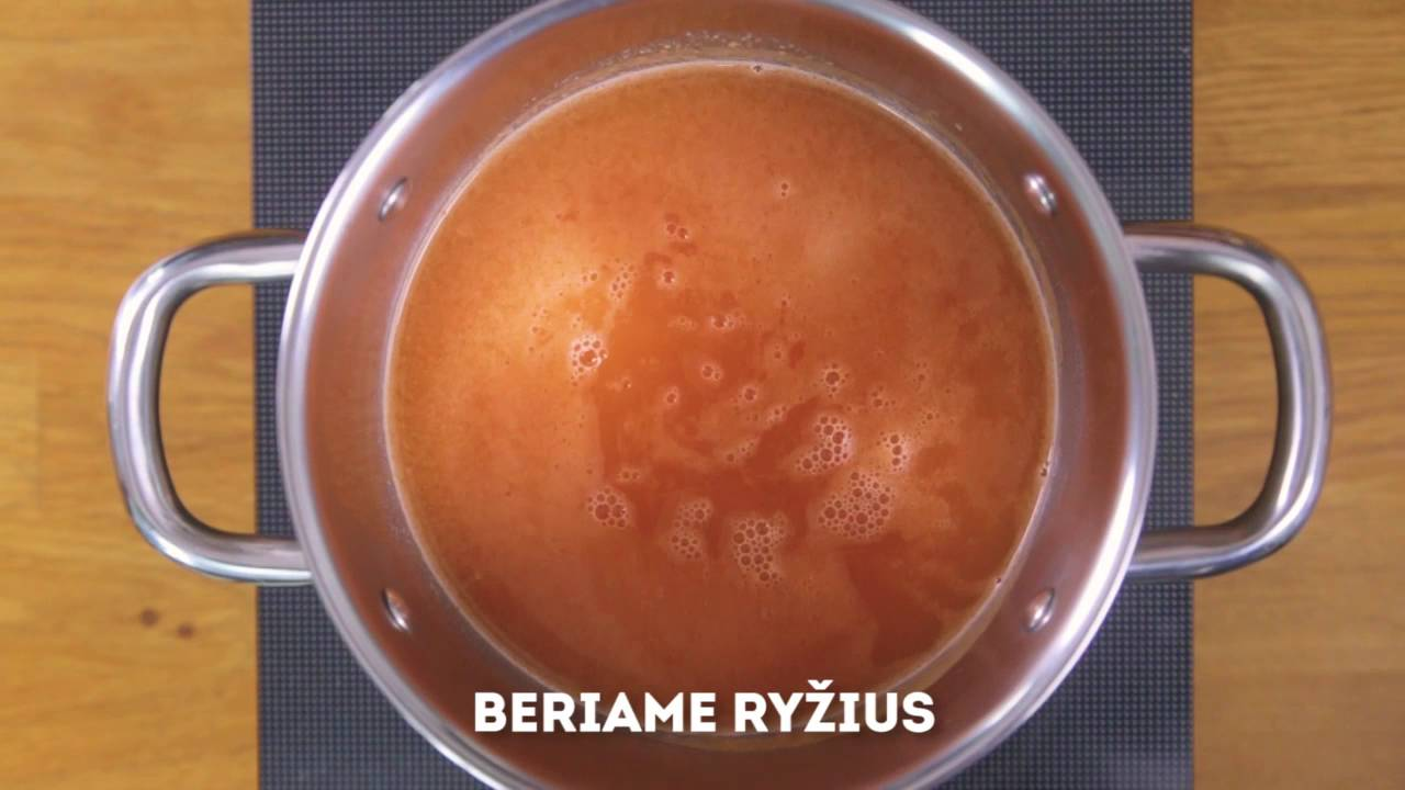 Ryžių Pomidorinė Sriuba Youtube