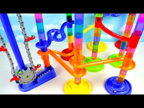 Toddler Kids Learning Video for Children Teach Colors Toy Imaginarium Motorized Marble Maze Run Race