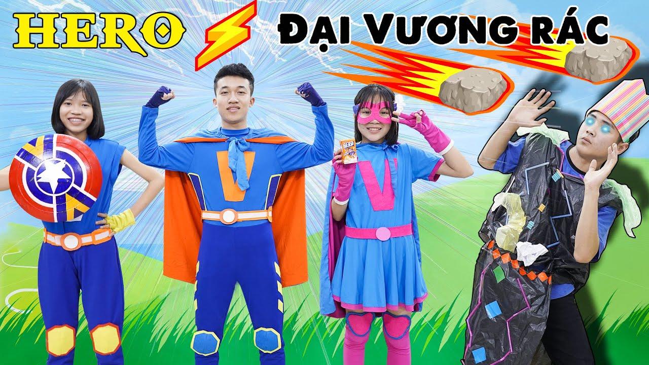 Biệt Đội Hero Đánh Bại Đại Vương Rác ♥ Minh Khoa TV