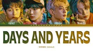 Download Mp3 SHINee Days and Years Lyrics