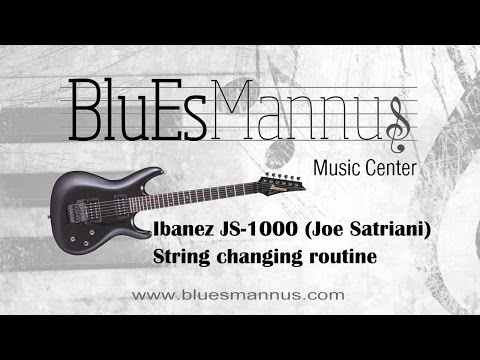 Ibanez JS 1000 (Joe Satriani) String changing routine