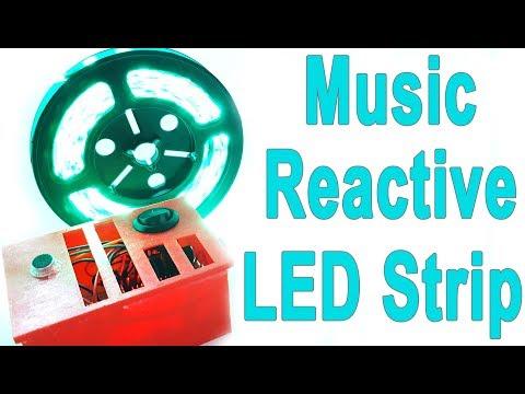 Music Reactive LED Strip Light with 3D Case DIY - Arduino and Sound Sensor