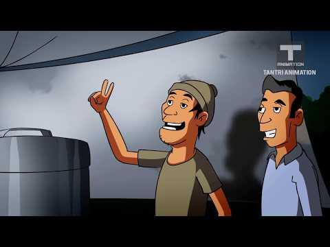 kartun lucu bangetbalap lari hantu 2 -kartun horor lucu-funny kartun- huffi animation