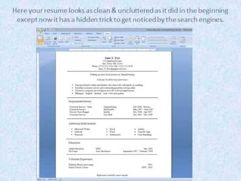 Secret Trick to Get a Job Interview With Your Online Resume! - YouTube