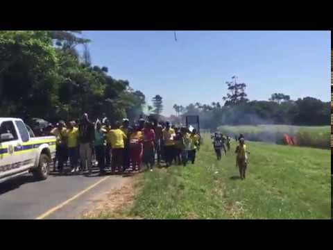 ANCYL protesters set sugar cane alight amid KZN mall protest
