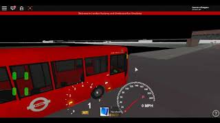 Roblox London Hackney & Limehouse bus Simulator E200 (euro 6) CSG CTP on Route 309 to Bonner (night)