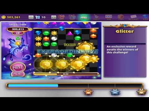 Bejeweled Blitz Winning a Glitterbug
