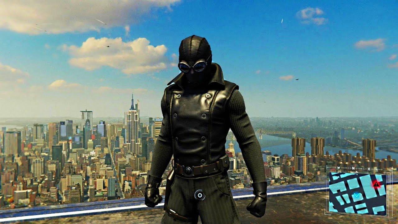 spider-man ps4 - noir spider-man free roam gameplay - youtube