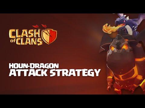 Clash of Clans - Lava Hound + Dragon Raid (HounDragon) Attack Strategy