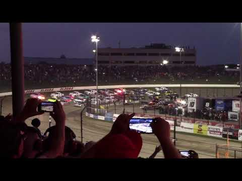 Eldora Speedway 4 Wide Salute 2019 Dirt Derby from the stands