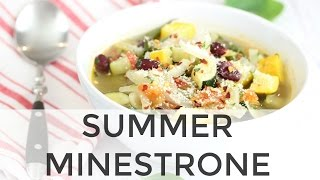 Summer Minestrone Soup | Clean & Delicious