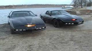 KNIGHT RIDER CARS II - KITT VS KARR - again.wmv