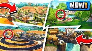 *ALL* Fortnite New LOCATIONS! | Season 5 Map Changes! ( Secret Spots )