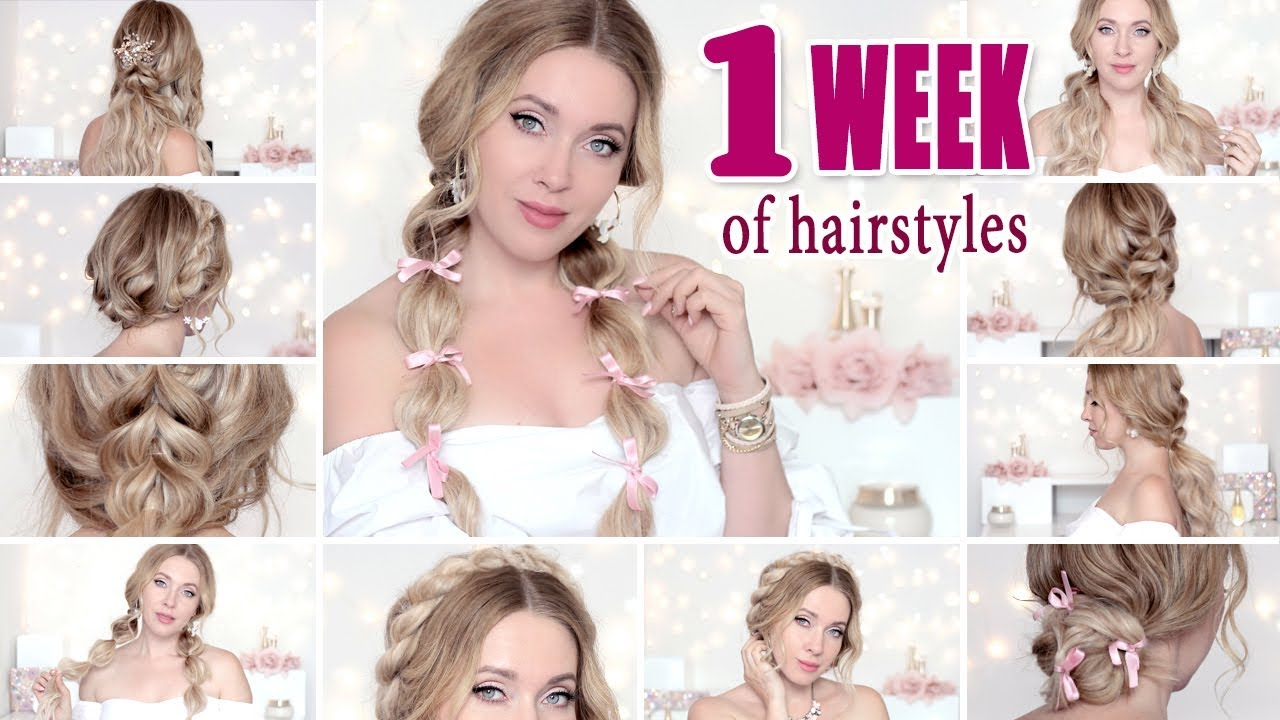 Back To School 1 Week Of Hairstyles Or Everyday Easy Cute Quick