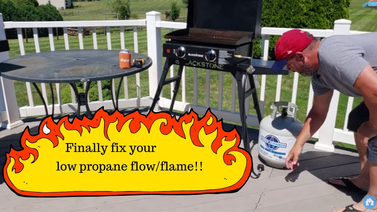 Getting low propane flow? Reset your propane regulator on grill/griddle