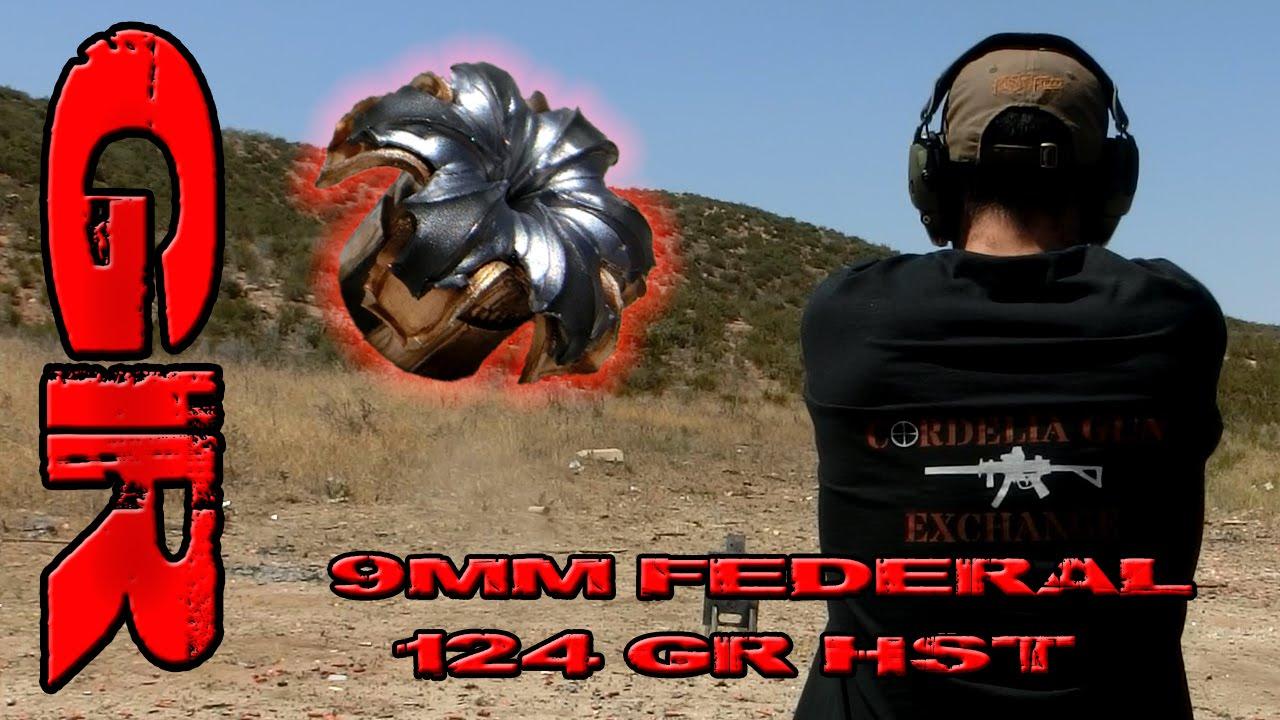 9mm Federal 124gr HST - Ballistic Gelatin Test
