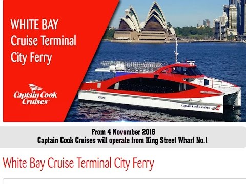 Captain Cook Cruises - New Barangaroo Route for White Bay Cruise Passenger Ferry
