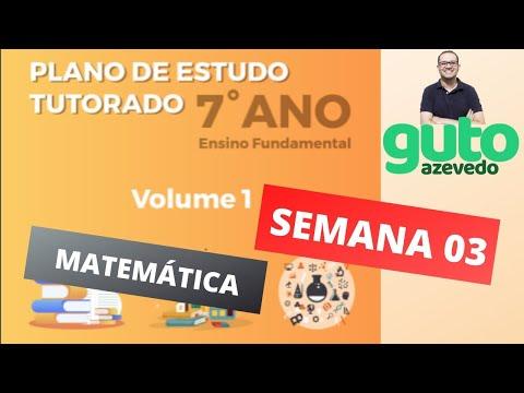 PET Volume 1 | 7º ano Fundamental | Semana 3 | Matemática | Correção das atividades | Guto Azevedo