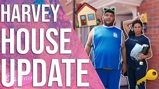 HARVEY HOUSE TOUR UPDATE (HARVEY GETS A SURPRISE!!)