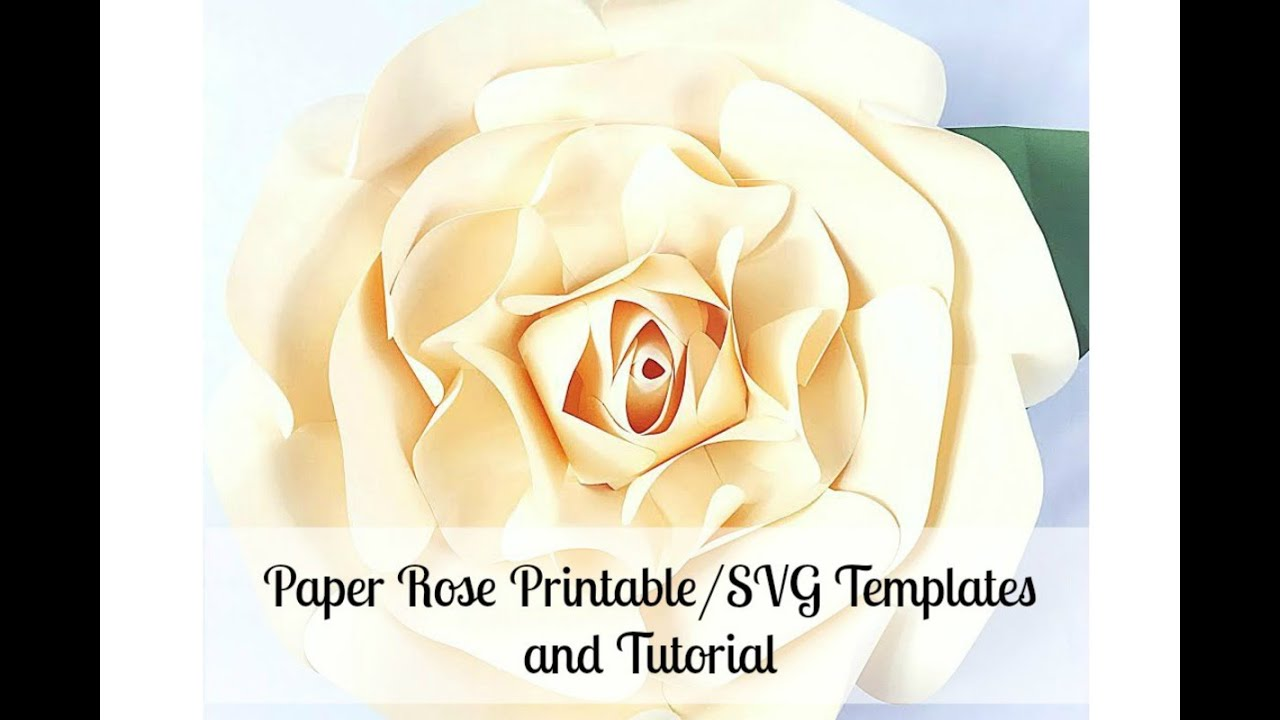 giant paper flower rose youtube