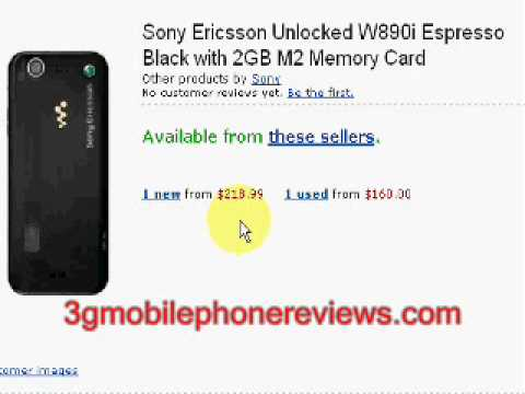 sony ericsson w890i price comparison