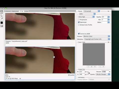 Image Compression for the Web using Photoshop
