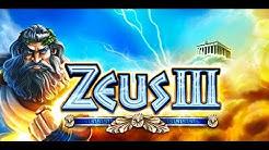 WMS Zeus 3 Slot | 30 Freespins + Retriggers | Big Win