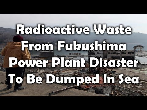 Radioactive waste from Fukushima power plant disaster to be dumped in sea