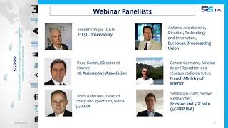 5G PPP Webinar - 5G Spectrum for Industry Verticals