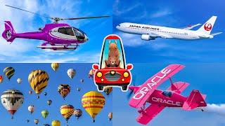 Изучаем Воздушный Транспорт для Детей. Развивающее Видео. Самолеты для Детей