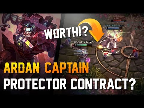 Vainglory - Road to Vainglorious [Gold]: PROTECTOR CONTRACT!? Ardan |Captain| Gameplay