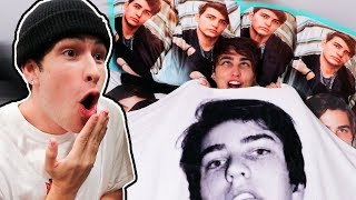 PRANKING JAKE with BLANKET/PILLOWS of ME!!