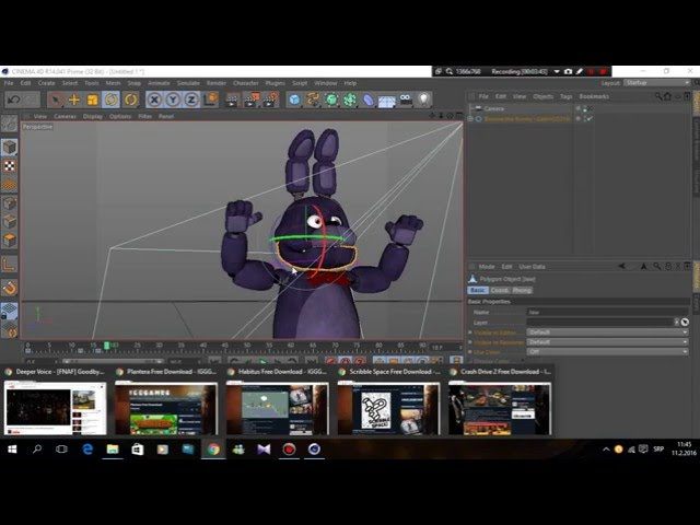 Fnaf Cinema4d tutorial:how to animate a jumpscare