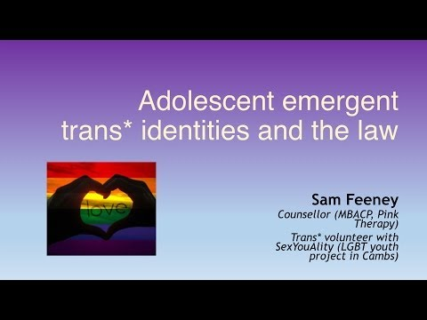 Adolescent Emerging Trans Identities and the Law