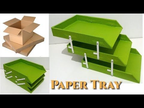 DIY How To Make a Paper Tray with Cardboard