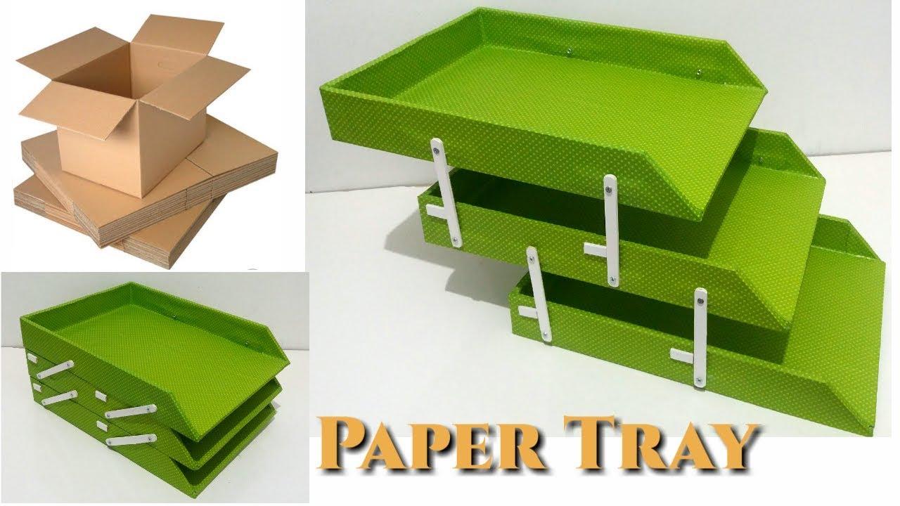 Pin By Veronika D On Manualidades Paper Organization Diy Paper Tray Diy Makeup Organizer Cardboard