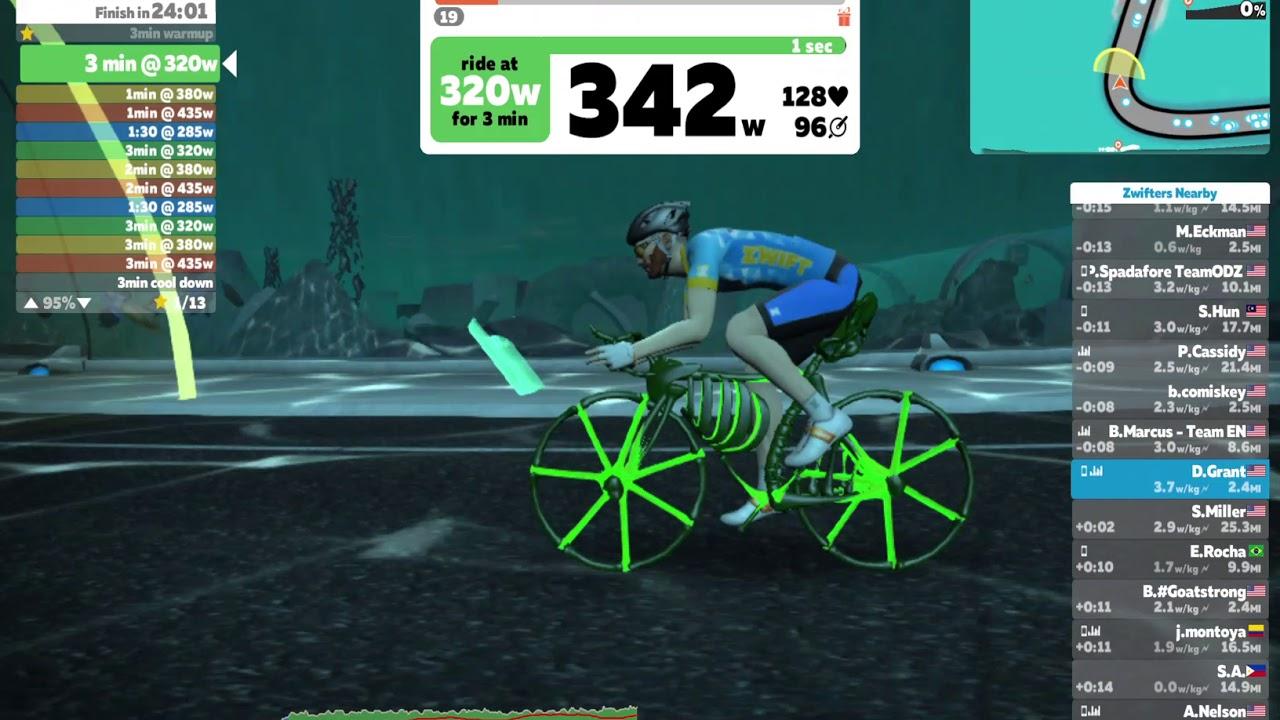Zwift - Watopia - Emilys Short Mix - Skeleton Bike - Halloween