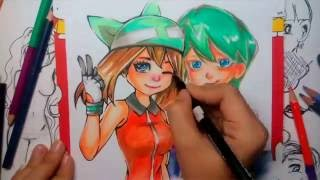 Pokemon trainer: Speed Drawing Drew and May. FanArt