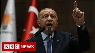 Erdogan vows to complete offensive in Syria - BBC News